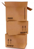 Stacked boxes with up arrows